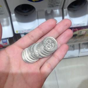 1000円札を硬貨へ両替